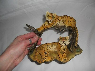 Endangered Species Bengal Tiger Couple Collectable Realistic Polyresin Figurine