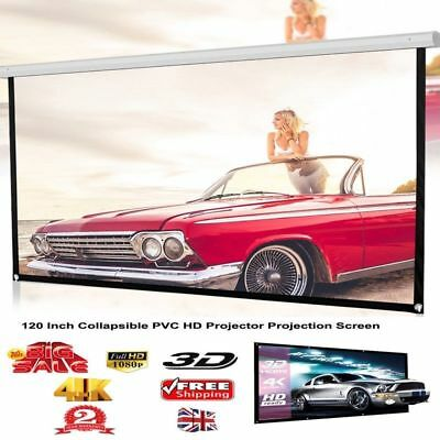 """120"""" Movie Portable Projector Screen Foldable 16:9 Home Theater Outdoor 3D USA"""
