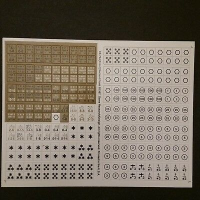 Europa Second Front Unpunched Counter Sheet CS 72A
