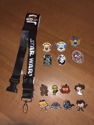 Disney Trading Pins Star Wars 15 Piece Pin Collection
