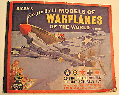 1943 World War II - Rigby's Easy to Build Models  of WARPLANES OF THE WORLD