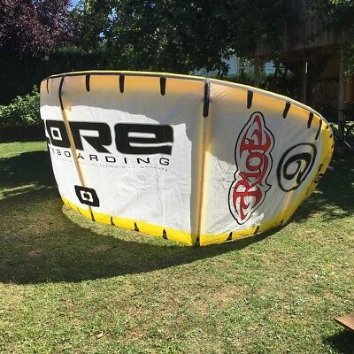 Core Kite Riot 9qm Quadratmeter inkl. original Core Bar - Super Zustand!