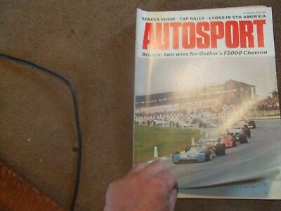 Autosport Magazine 22 March 1973 TAP Portugal Rally Race of Champions F1 Brands