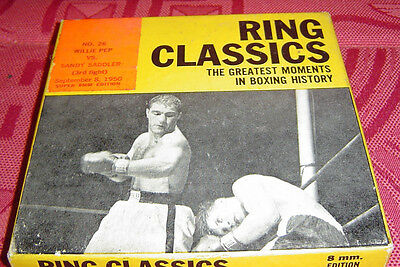 BOXE - BOXING N* 26: WILLIE PEP /SANDY SADDLER 8mm ÉDITEUR RING CLASSICS 1950