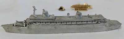 Ss Norway Ex Ss France Metal Model And Tie Clip