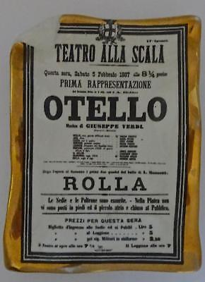 Piero Fornasetti Opera Series Card Tray, Dish: Otello (Othello) by Verdi