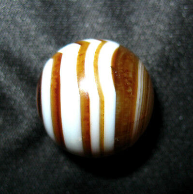 Older Vintage German Hand Made Bullseye Agate Marble, 21/32""