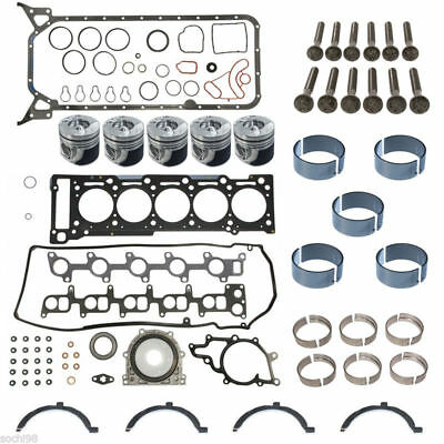 Single Piston /& Ring Kit 04-06 P1301 Dodge Freightliner Sprinter OM647 2.7