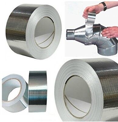 Kingspan 72Mm Aluminium Foil Tape Heat Insulation Reflecting Self Adhesive