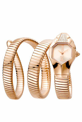 Just Cavalli Women's JC1L022M0135 Glam Chic Rose-Gold IP Steel Wristwatch