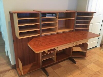 Danish Modern Teak Folding Magic Box Desk by Mummenthaler Meier