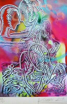 MARK KOSTABI Dreams within dreams HAND SIGNED numbered 49/50 URBAN ART US ARTIST