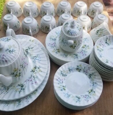 Vintage Minton Limited Edition China Spring Valley 52 Pieces total