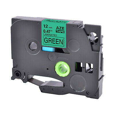 "TZ-731 TZ TZe 731 Black on Green 12mm 1/2"" Label Tape for Brother PTouch PT-1200"