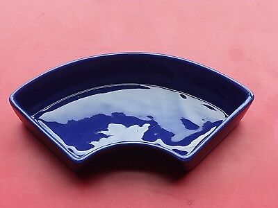 Vtg Fiestaware Relish Tray Insert◾Original Cobalt Blue◾Homer Laughlin Usa