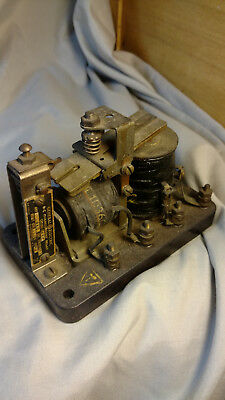 Vintage General Electric Overcurrent Relay Steampunk Antique Electronics