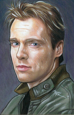 STARGATE SG-1 Daniel Jackson MICHAEL SHANKS 4x6 inches 1 of 1 ORIGINAL ART