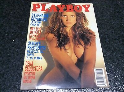 PLAYBOY Nº 147  STEPHANIE SEYMOUR. JULIE CLARKE Magazine vintage Spanish 1991