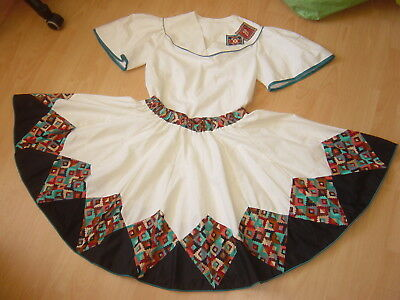 Tamarisk 50s SQUARE DANCE OUTFIT f Petticoat 2-teilig Bluse Rock Traditional USA