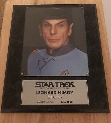 Star Trek Autographed Plaque from Star Trek the Motion Picture