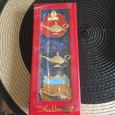 Disney Aladdin 25th Anniversary Limited Edition Three Wishes Pin Box Set LE 1000
