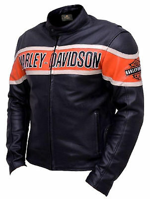 Harley Davidson Biker Leather Jacket - New Year 2019 Special Jacket !