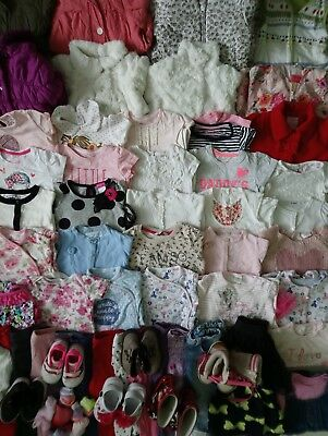 Massive Baby Girls Clothes Bundle 9 - 12 Months/Over 60 Items