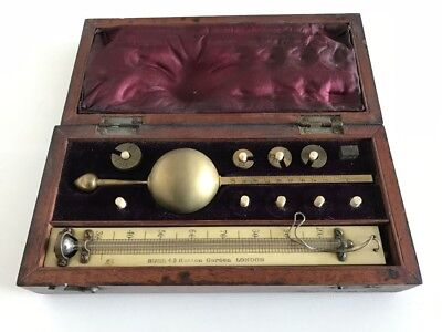 Antique Boxed Sykes Hydrometer BUSS London scientific
