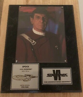 Star Trek Autographed Plaque from the Star Trek VI Undiscovered Country
