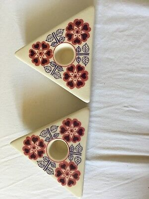 Jersey Pottery Retro Candle Holders Looks 1970s