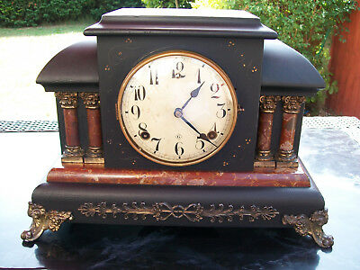 Antique wood  mantle clock spares / repair