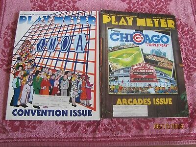 12 Issues Play Meter Magazine  Pinball Video  And More All Year 1985