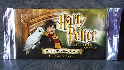 Harry Potter and the Sorcerers Stone Movie Trading Cards Unopened Pack