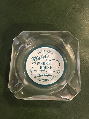Vintage Stolen From Mabel's Whore House Las Vegas Ashtray CUSTOMER COMES FIRST