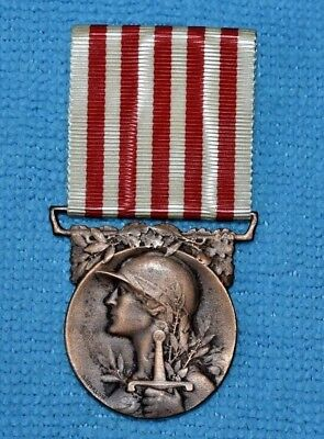 Wwi Ww1  French 1914-1918 Grand Guerre War Merit Medal. .