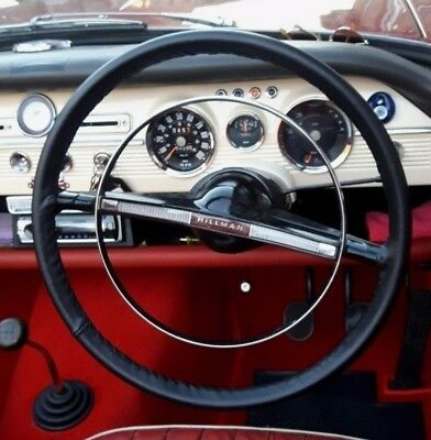 Classic Leather Steering Wheel Cover / Glove Hillman Super Minx &  Singer Vogue