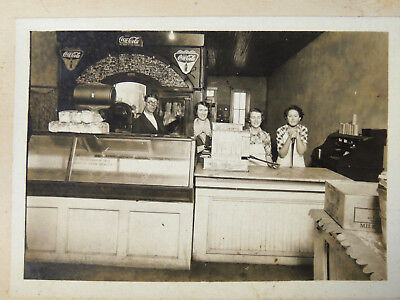 Antique vtg 1930s Country Store Photo 5x7 Coca Cola Signs Hershey Box Steampunk