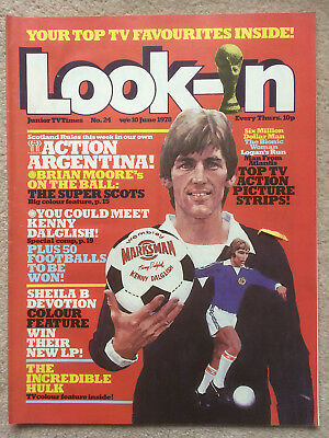 Look In Magazine 10 Jun 1978 #24 Argentina World Cup & Sheila B Devotion & Hulk