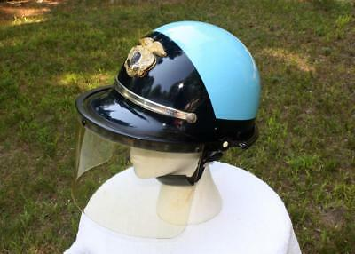 """Vintage OBSOLETE BELL TOPTEX Police Riot Helmet State of California CHP """"Eggs"""""""