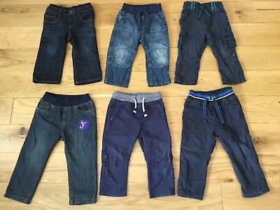 6 Pairs of Mothercare GAP Jeans Trousers Job Lot Bundle Size 12 - 18 Month 1 1.5