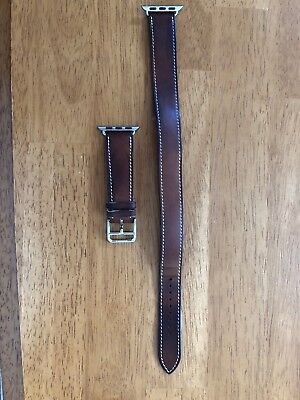 Hermes- Fauve Barenia Double Tour Band for 32MM Apple Watch