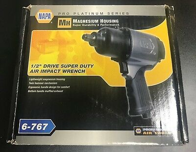 "Napa 6-767 1/2"" Drive Super Duty Air Impact Wrench Magnesium Housing"