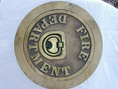 Brass Fire Department cover plate