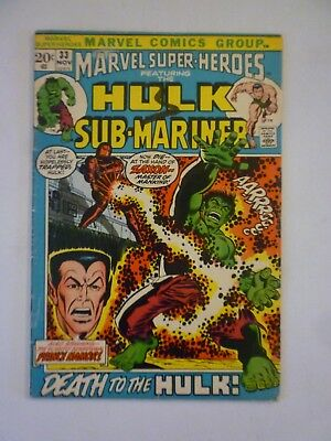 Marvel Super-Heroes 33 1972 Hulk & Sub-Mariner Bronze Age Marvel Comics