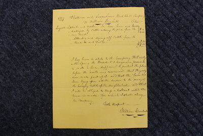 1837 letter to Baltimore & Susquehanna RR Co - Claim for cattle damage
