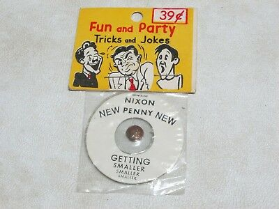 Vintage President NIXON New Penny Getting Smaller 70's FRED ALAN NOVELTY NC Joke
