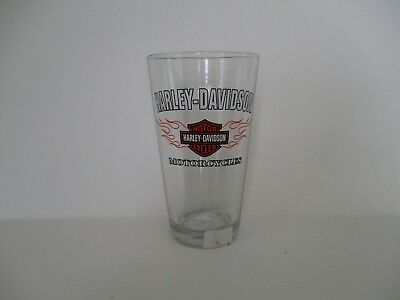 "Harley Davidson Pint Glass. Never Used. ""Free Shipping"""