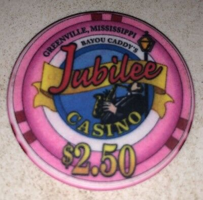 Jubilee Casino $2.50 Greenville Mississippi Casino Chip 2.99 Shipping