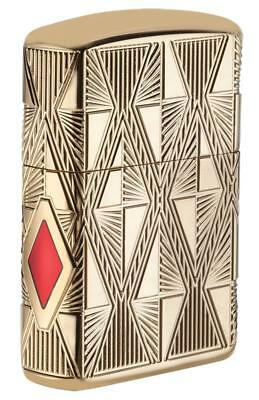 Zippo Windproof Armor Diamond Design Lighter W-Enameled Diamond 29671 New In Box