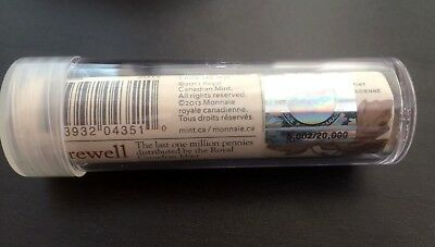 2012 Canada Farewell to the Penny special Mint Wrap Roll with Hologram - 1 cent